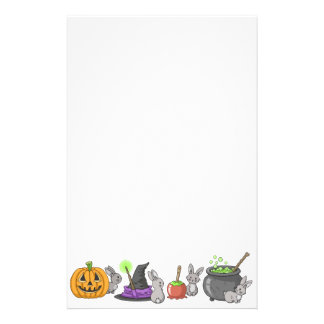 Spooky Halloween Bunnies Stationery