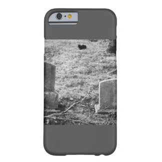 Spooky Halloween Cemetery Black Cat & Gravestone Barely There iPhone 6 Case