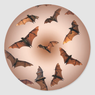 Spooky Halloween Fruit Bats (Flying foxes) Classic Round Sticker