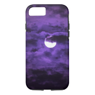 Spooky Halloween Full Moon Purple Clouds iPhone 8/7 Case