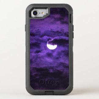 Spooky Halloween Full Moon Purple Clouds OtterBox Defender iPhone 8/7 Case