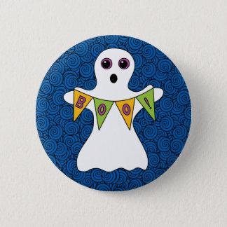 Spooky Halloween Ghost Boo 6 Cm Round Badge