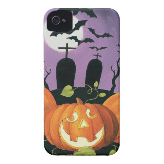 Spooky Halloween Haunted House iPhone 4 Case-Mate Case
