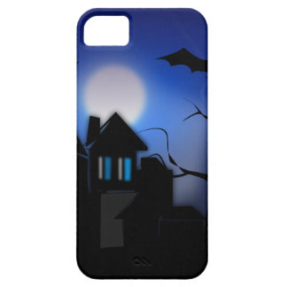 Spooky Halloween Haunted House with Bats Barely There iPhone 5 Case