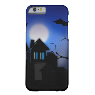 Spooky Halloween Haunted House with Bats Barely There iPhone 6 Case