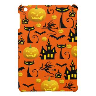 Spooky Halloween Haunted House with Bats Black Cat iPad Mini Cover
