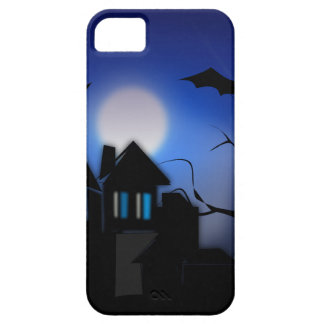 Spooky Halloween Haunted House with Bats iPhone 5 Cover