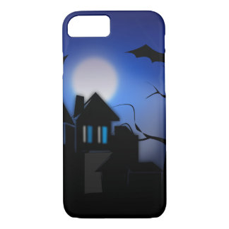 Spooky Halloween Haunted House with Bats iPhone 7 Case