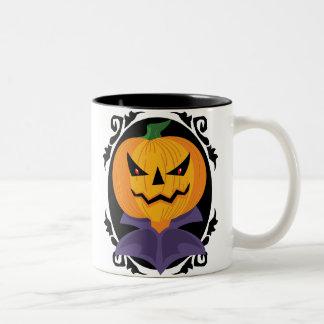 Spooky Halloween Jack-o-Lantern Two-Tone Mug Coffee Mugs