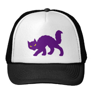 Spooky Halloween Kitty Cat Scary Evil Cap