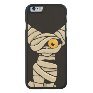 Spooky Halloween Mummy Cat Carved® Maple iPhone 6 Slim Case