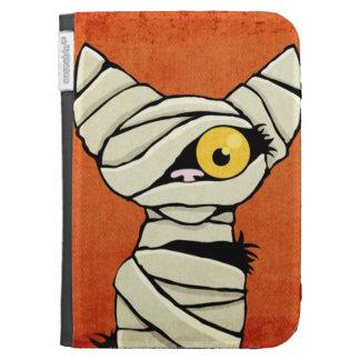 Spooky Halloween Mummy Cat Kindle Cases
