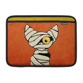 Spooky Halloween Mummy Cat Sleeves For MacBook Air