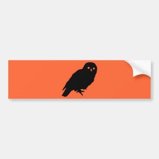 Spooky Halloween Owl Bumper Sticker