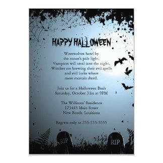 Spooky Halloween Party 13 Cm X 18 Cm Invitation Card