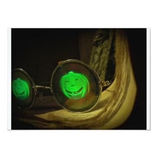 Spooky Halloween Pumpkin Hologram Specs Invitation