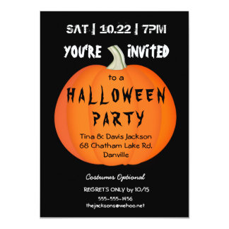 Spooky Halloween Pumpkin Party Invitation