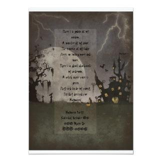 "Spooky Halloween Scene 5"" X 7"" Invitation Card"