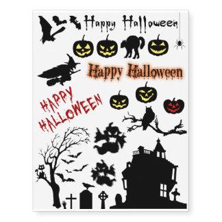 Spooky Halloween - Temporary Tattoo Set
