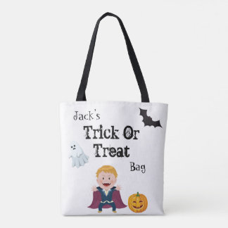 Spooky Halloween Trick Or Treat Tote Bag