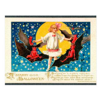 Spooky Halloween Vintage Holiday postcard