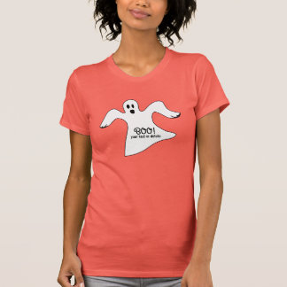 Spooky Halloween White Ghost Saying BOO! Tees
