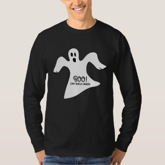 Spooky Halloween White Ghost Saying BOO! Tshirt