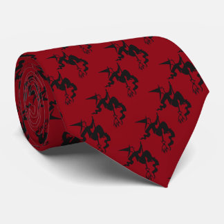 spooky halloween witch on broomstick fun tie