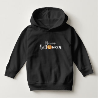 Spooky Happy Halloween Text with Pumpkin Custom Hoodie