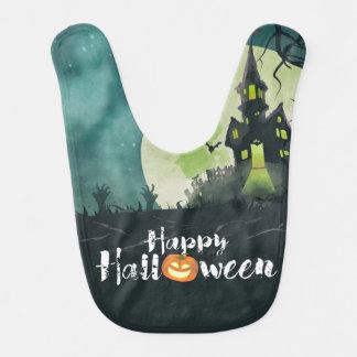 Spooky Haunted House Costume Night Sky Halloween Bibs