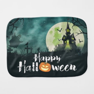 Spooky Haunted House Costume Night Sky Halloween Burp Cloths