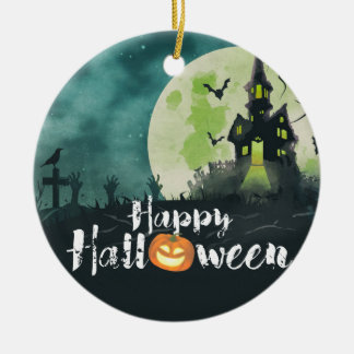 Spooky Haunted House Costume Night Sky Halloween Christmas Ornament