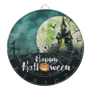 Spooky Haunted House Costume Night Sky Halloween Dart Board