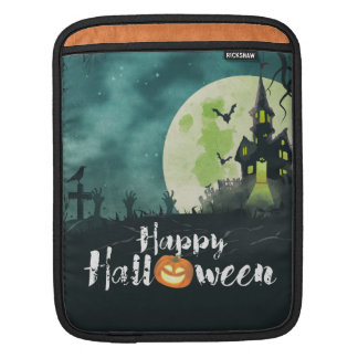 Spooky Haunted House Costume Night Sky Halloween iPad Sleeve