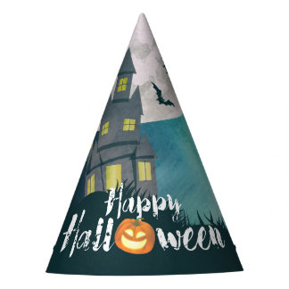 Spooky Haunted House Costume Night Sky Halloween Party Hat