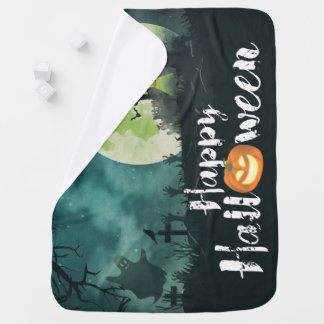 Spooky Haunted House Costume Night Sky Halloween Receiving Blankets
