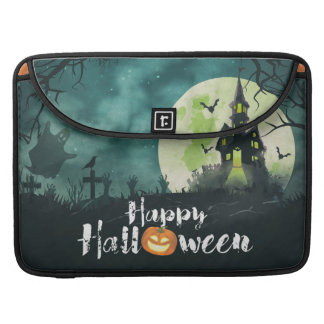Spooky Haunted House Costume Night Sky Halloween Sleeve For MacBooks