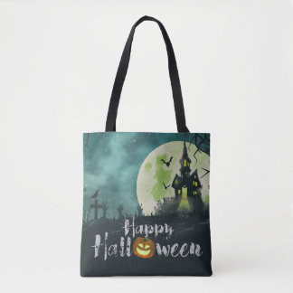 Spooky Haunted House Costume Night Sky Halloween Tote Bag