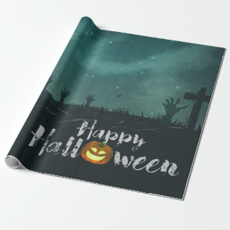 Spooky Haunted House Costume Night Sky Halloween Wrapping Paper