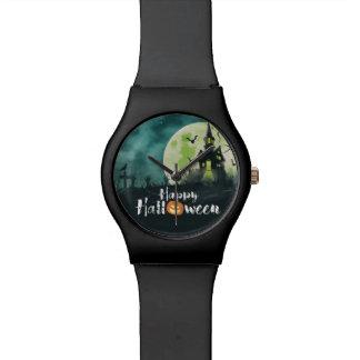 Spooky Haunted House Costume Night Sky Halloween Wrist Watch