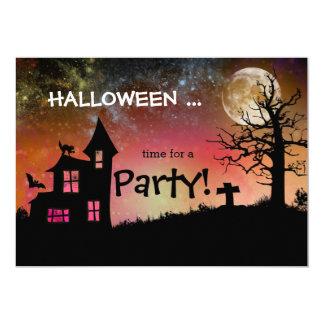Spooky Haunted House Graveyard Halloween Party 13 Cm X 18 Cm Invitation Card