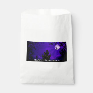 SPOOKY HAUNTED HOUSE HALLOWEEN FAVOR BAGS FAVOUR BAGS