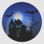 Spooky House Classic Round Sticker