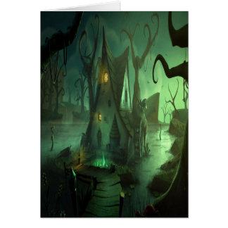 Spooky House Halloween Card