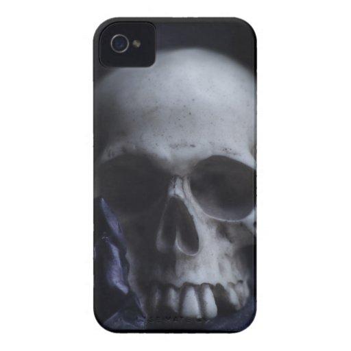 Spooky Human Skull Grim Black White Photography Blackberry Bold Covers