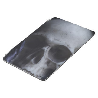 Spooky Human Skull Grim Black White Photography iPad Air Cover
