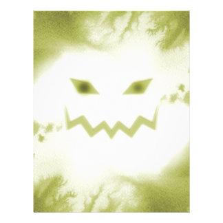 Spooky Jack O Lantern Face Wht Yellow 21.5 Cm X 28 Cm Flyer
