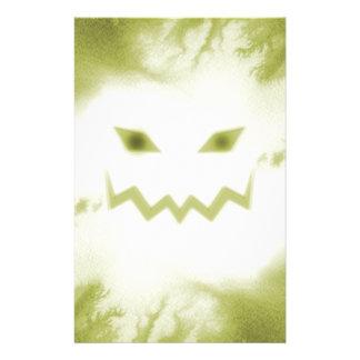 Spooky Jack O Lantern Face Wht Yellow Stationery