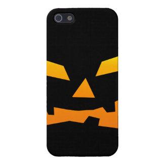 Spooky Jack O Lantern Halloween Pumpkin Face iPhone 5 Cases