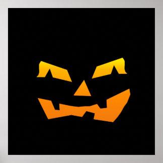Spooky Jack O Lantern Halloween Pumpkin Face Poster